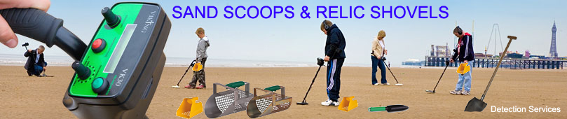 sand scoops & relic shovels